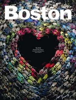 jillianleedy:  The May 2013 Issue of Boston Magazine Collected the shoes, and stories, of the runners from the tragic Boston Marathon bombing. A very fitting tribute. (X)
