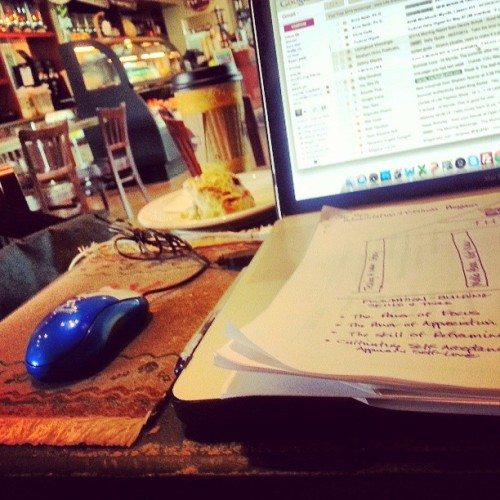 grinding it out #working #caffeinated #focus #business plans #diagramer  (at It's a Grind)