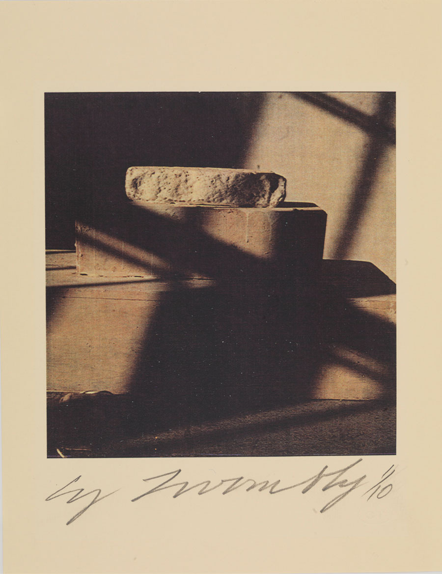 tri-ciclo:  Cy Twombly, a survey of photographs, 1954 - 2011