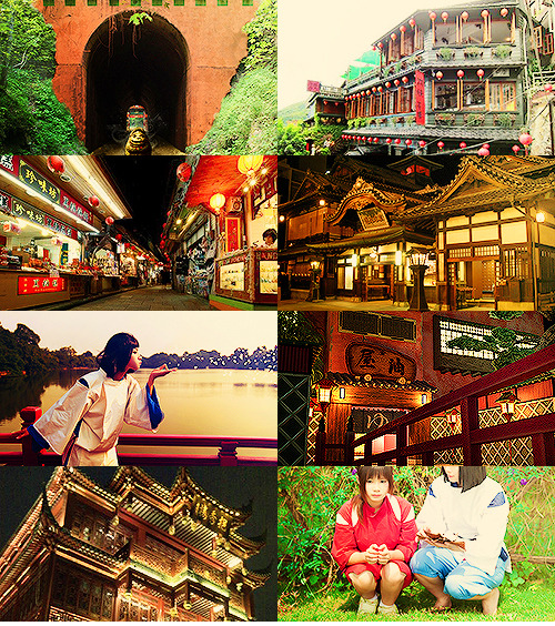 the-writers-ramblings:  Spirited Away: animation → reality  credits for cosplayers:↳ the tunnel | [x]↳ haku | [x]↳ the bath house bridge | [x]↳ haku & chihiro | [x]↳ no face | [x]↳ the bath house | [x]  please do not remove cosplayer sources