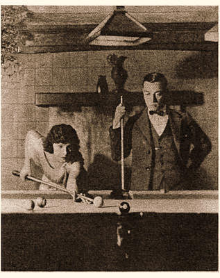 Buster and Norma playing pool. How much you want to bet that Buster won that game?