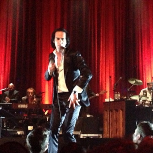 rickwebb:  Nick Cave is aging just fine.  (at Beacon Theatre)  Nick Cave is Gaius Baltar??