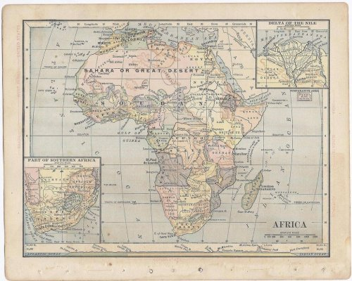 thelandofmaps:  Africa, from Butler's Elementary Geography published 1888 [1645x1318]CLICK HERE FOR MORE MAPS!thelandofmaps.tumblr.com