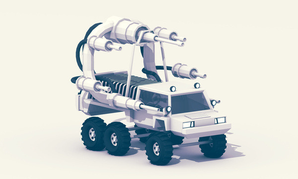 New print - Battle Truck http://society6.com/turnislefthome/Battle-Truck_Print