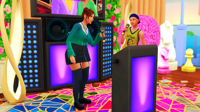 They made a great team!!🎤🎶 #the sims 4 #ts4#ts4 gameplay#ts4 legacy #ts4 legacy challenge #Willa #the Murphy legacy  #Live for Something legacy challenge #gen 1#s4 q