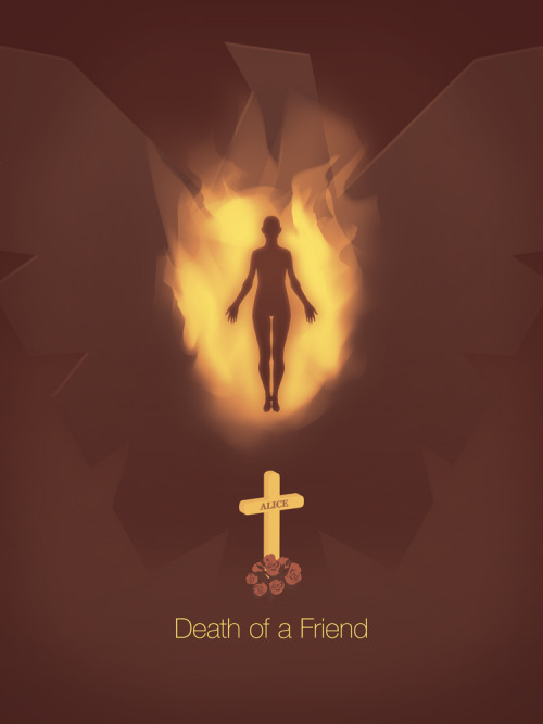 Third poster in my super hero series. A friend requested I do Dark Phoenix, but I wasn't confident in the heroes back story. After a bit of research I discovered that Jean Grey (Dark Phoenix before her transformation) activated her telekinetic powers after a friend died in her arms as a child.I decided to show her in a more ethereal form, rather then in costume. Dark Phoenix was approaching a higher level being, so I thought this played up the 'Alien' aspect of her personality.Played with the layout a couple of times, before I decided on this composition. Might go back and do some more color correction, but I'm pleased with the result.