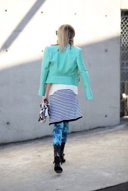what-do-i-wear:  Jacket: Balmain via Myer  ||  top: Manning Cartell ||  pants: Lottie Hall  ||  perspex clutch: Gucci  ||  pencil case clutch: Samudra  ||  shoes: Prada  ||  sunglasses: Celine  ||  ring: Amber Sceats (image: oraclefox)