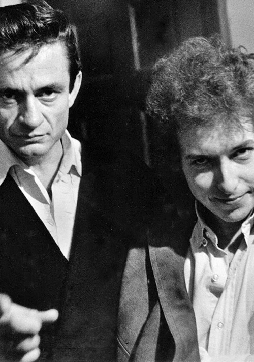 Johnny Cash and Bob Dylan, 1965