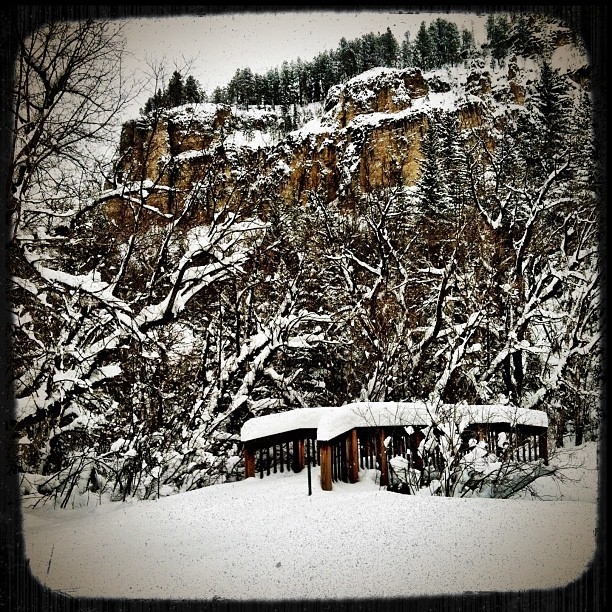 A little bit of snow (at Spearfish Canyon Resort Lodge)