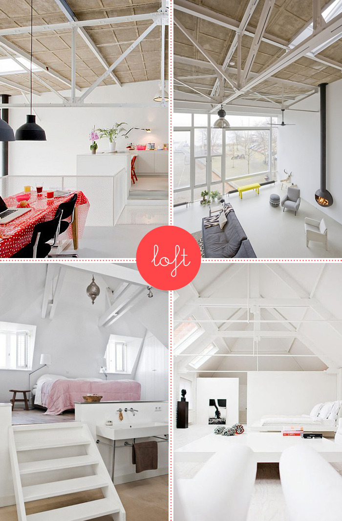 Last night I bought a loft …(in my dreams)… Images: MK Home (1&2) | Pinterest | Pinterest
