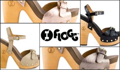 "Style File: ""Cassie"" from Flogg Flogg introduces the Cassie, a comfortable sandal that doesn't sacrifice style. A soft leather envelopes the upper while featuring stud and buckle details. A layer of super soft foam padding will make you feel as if you're stepping on clouds! Genuine wood creates the 5 1/2 inch block heel and 1 1/2 inch platform."