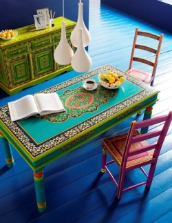 ❀ Lovely colorfull folkloric  interior ❀