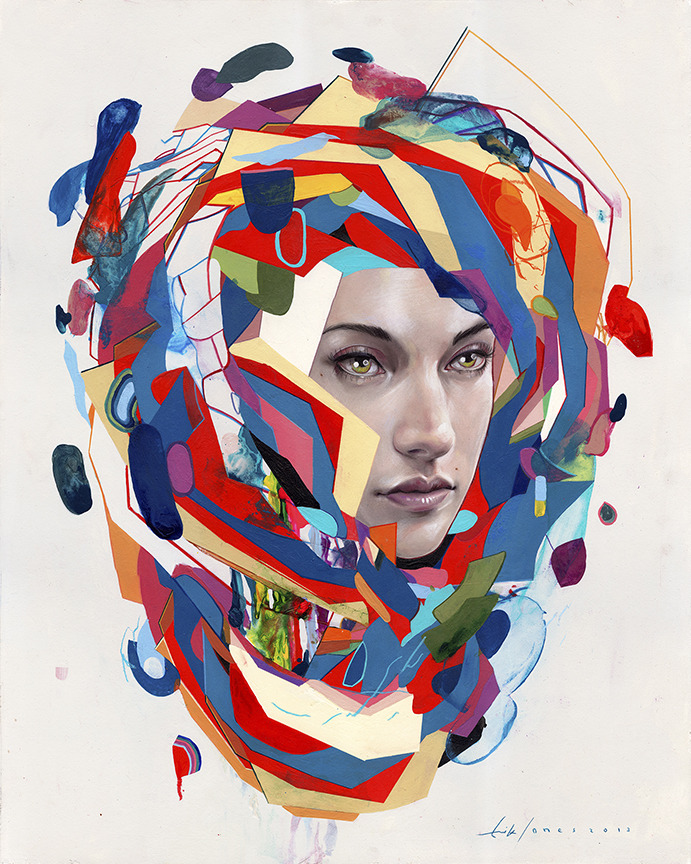 "erikjonesart:  Erik Jones / ""Float"" / Watercolor, Colorpencil, Acrylic, Wax Pastel, Oil / 24""x30"" / 2013"