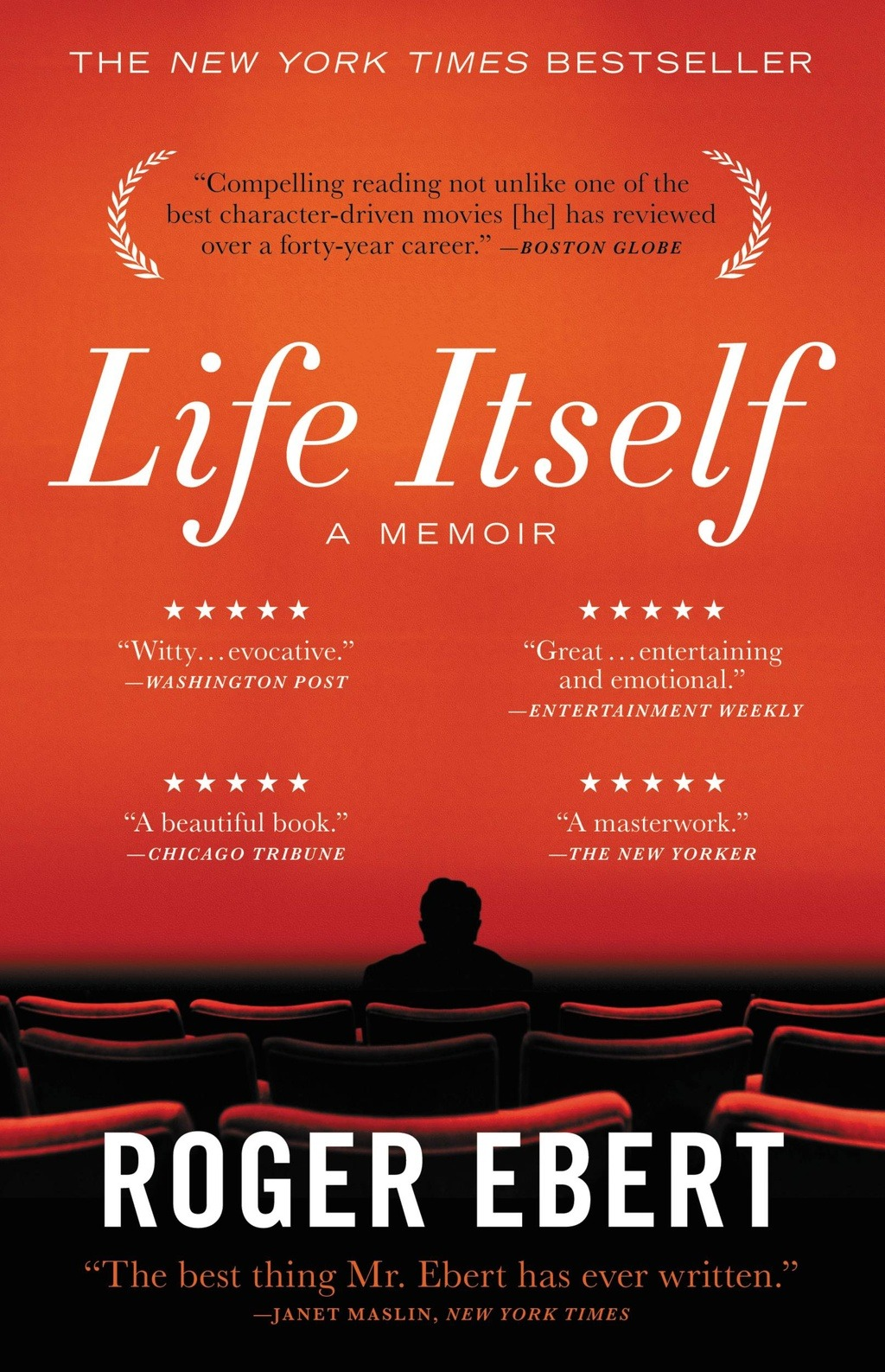 "A note from Mitch Hoffman, editor of LIFE ITSELF: Roger taught us all so much. First, he taught us about the movies. How to watch them, how to hate them, how to love them. Later, he taught us so much more. He lived out loud, and even when cancer took away his ability to speak, he didn't recede from public life: his voice became his writing, and he became even more prolific and influential, showing us at the same time how to confront illness and adversity with strength, elegance and grace. Publishing his memoir was a professional privilege for all of us. For those of us who were lucky enough to work with him directly, he was endlessly generous, and he approached the task of writing his memoir with constant joy. And he was unafraid to face his own mortality. As with anything else he wrote about, Roger said it best, and so I will leave the last word to him, quoted from the chapter in his memoir, Go Gently: ""I believe that if, at the end, according to our abilities, we have done something to make others a little happier, and something to make ourselves a little happier, that is about the best we can do. To make others less happy is a crime. To make ourselves unhappy is where all crime starts. We must try to contribute joy to the world. That is true no matter what our problems, our health, our circumstances. We must try. I didn't always know this and am happy I lived long enough to find it out."""
