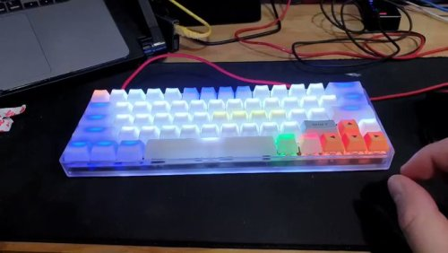 My first build: bm60rgb with layers and a lot of rgb :) #keyboard#mechanical keyboard#gaming#custom keyboard#cool#tech#retro#vintage #90s 80s oldsch