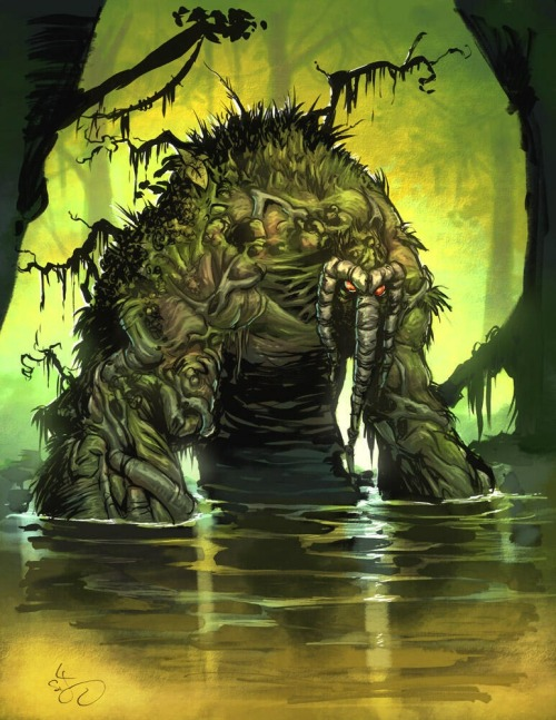 A Man-Thing sketch turned into something else by my talented partner in crime Jean-Francois