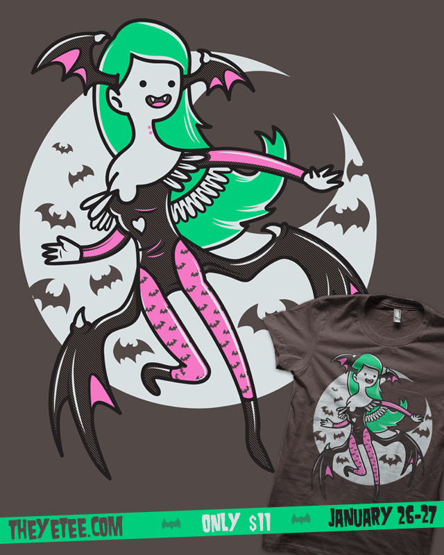 You still got some hours to get The Vampire Queen only on theyetee If you missed this shirt you can get it here: Society 6