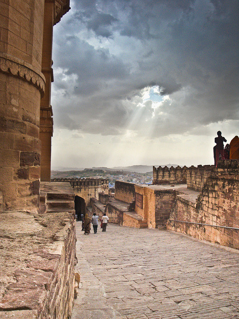 visitheworld:  Monsoon light in Jodhpur, India (by Deadboxrunner).