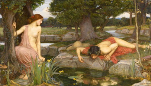pre-raphaelisme:  Echo and Narcissus by John William Waterhouse