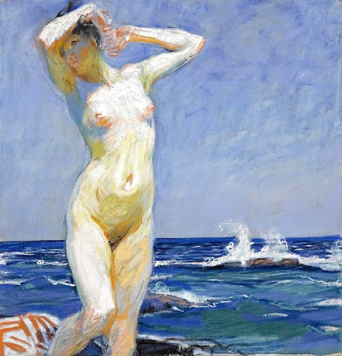 soyouthinkyoucansee:  Frantisek Kupka Czech 1871-1957 Nude Girl At The Seaside, 1920 Frantisek Kupka Czech 1871-1957