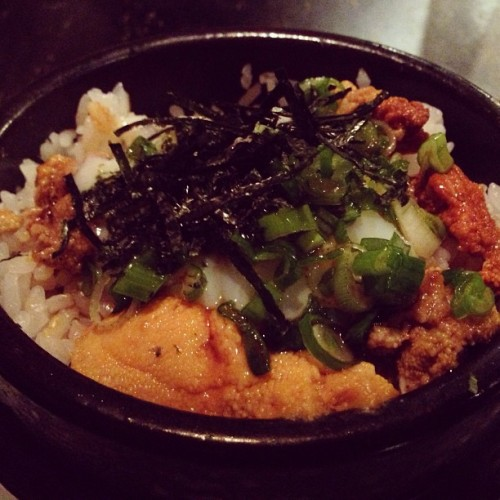 #Uni Yakimeshi. #seaurchin #claypot #japanese #latergram (at Tanto)