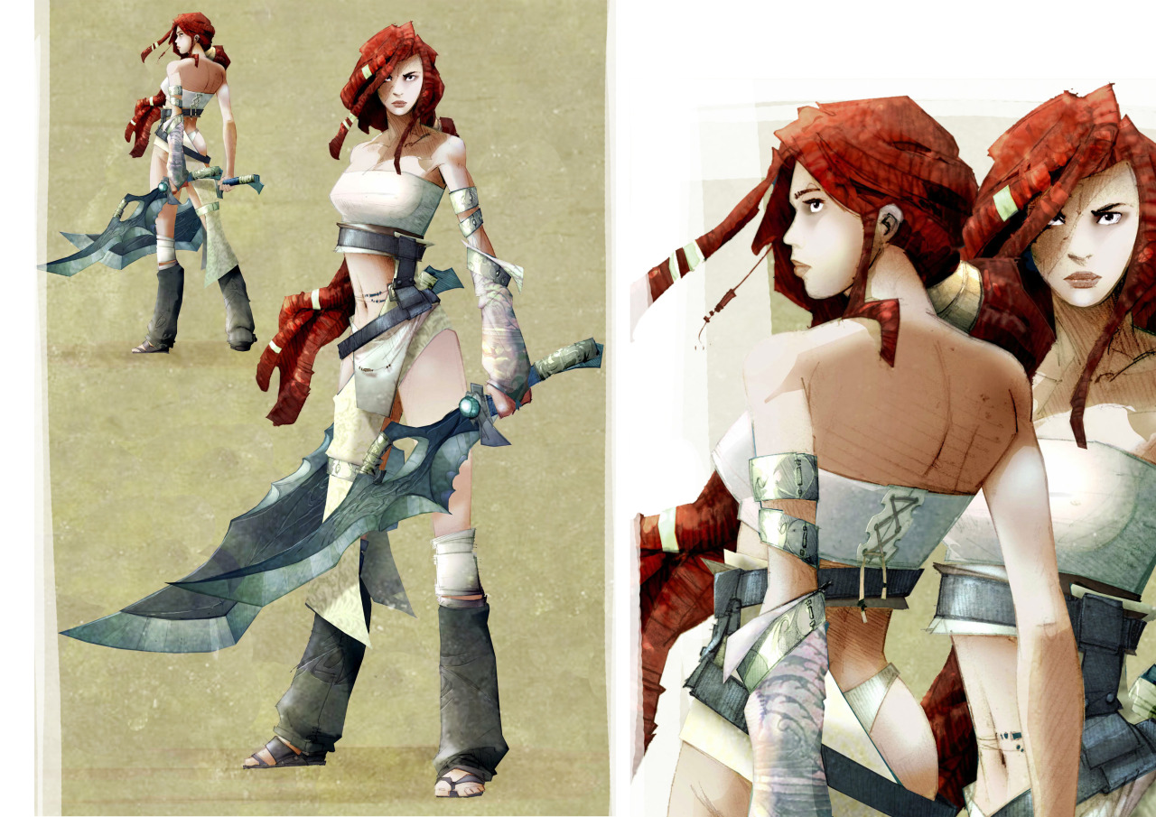 Heavenly Sword Nariko concept art by Doug Telford