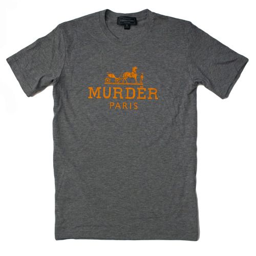 Huge News! We've got a new size for the Murder Paris tee in GREY MÉLANGE TRI-BLEND: EXTRA SMALL! This is a size that will fit most women and also men who have a slightly smaller build or prefer a tighter fit. If we get a good response for this smaller size we will start introducing Extra Small in our other shirts/colorways and future designs.