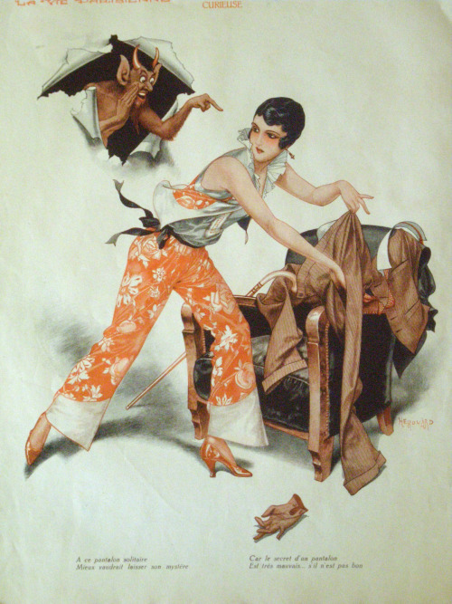 maudelynn:   Wonderful c.1931 Herouard illustration for La Vie Parisienne