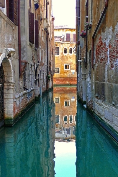 nonconcept:  Azure blue waters, Venice.