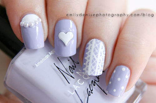 Head over to my blog to find out more about these delicate lavender nails!