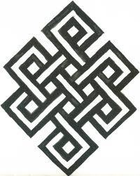 The endless knot, is a symbol of Buddha's endless knowledge and compassion. It also indicates the continuity as the underlying reality of existence.