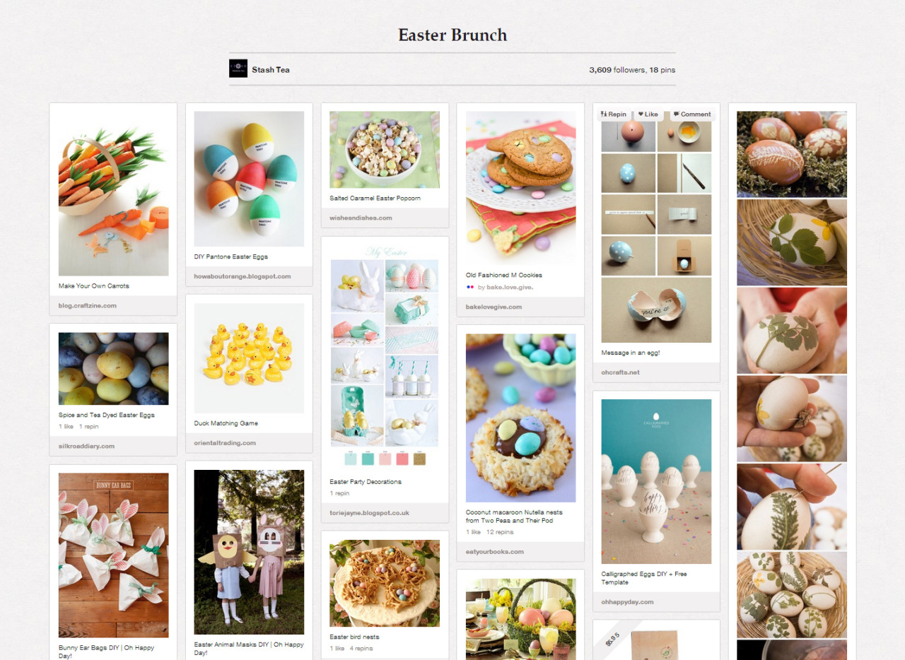 Looking for Easter ideas? We're stocking up a Pinterest board with some of our favorite projects, recipes and products!