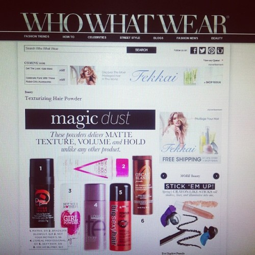 Magic Dust at @wwwBeauty = #notyourmothers #GirlPowder #volumizing #hair #powder