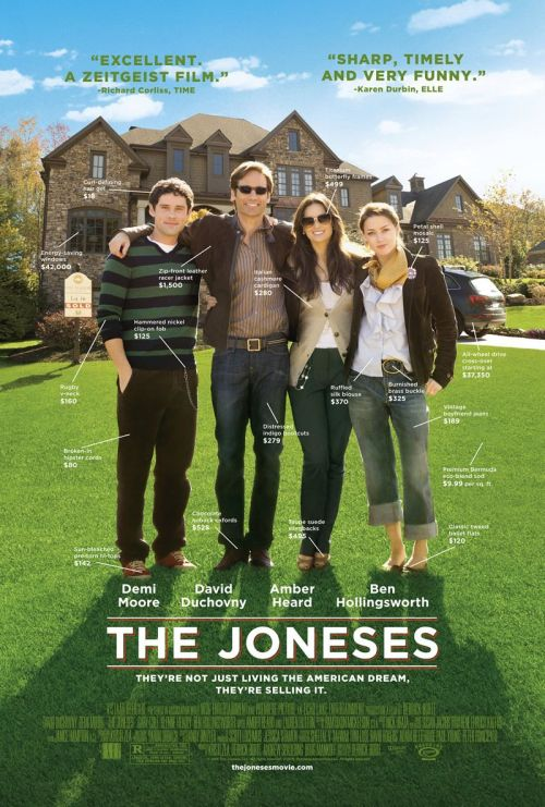 The Joneses (2009) Director: Derrick Borte David Duchovny as Steve JonesDemi Moore as Kate JonesAmber Heard as Jenn JonesBen Hollingsworth as Mick Jones