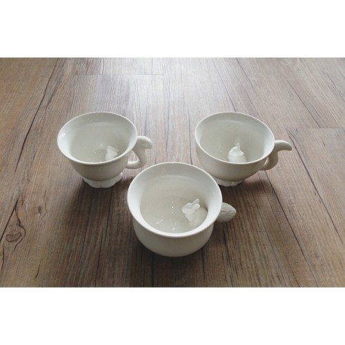 @monohawaii Product of the Day: IMM Living Creature Camouflage Teacups (Squirrel / Fox / Rabbit)