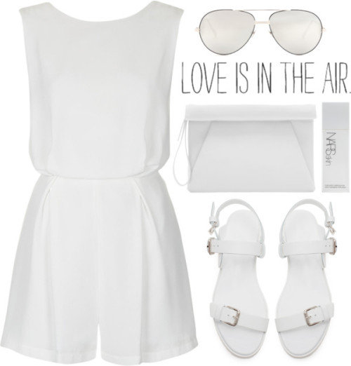 thepolyvorecollection:  White Summer by tania-maria featuring zara sandals