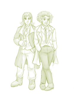 Bianca and Sparrow from BICP, looking fancy in suits
