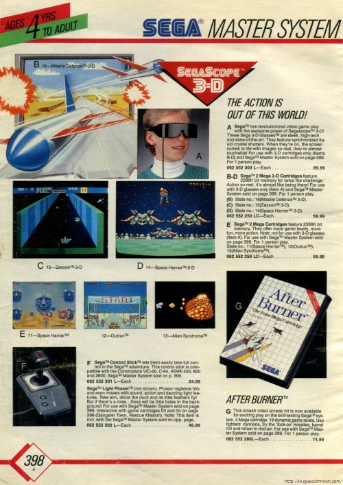 Master System catalogue.