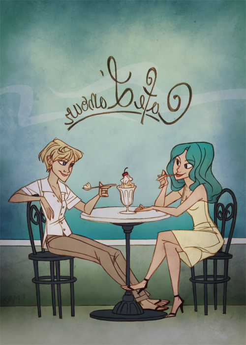 isabelatheking:  cafe l'amour by *taffygiraffe