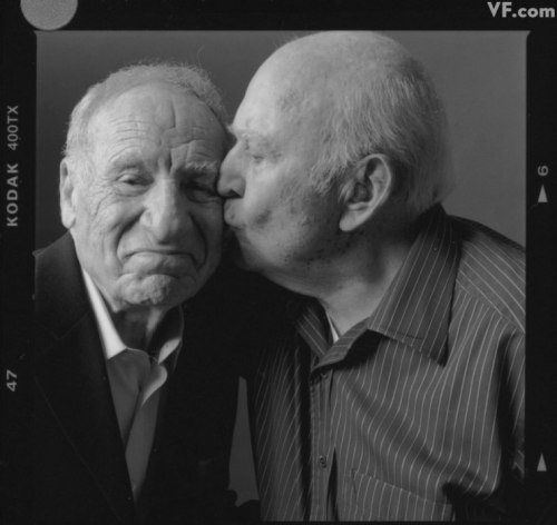 amyohconnor:  Just a darling photo of Mel Brooks and Carl Reiner.  Legends. Old Friends. Adorable.
