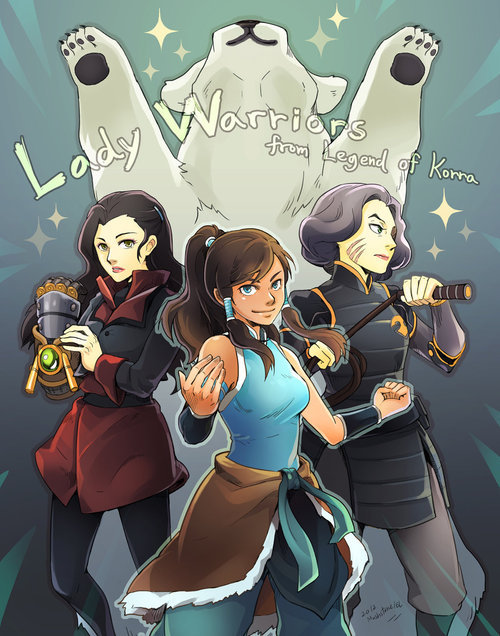 elventhespian:  Lady warriors from Legend of Korra by ~Mushstone