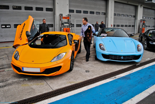 Choose your rocket Starring: Ferrari 599 GTB Fiorano and McLaren MP4-12C (by Jack de Gier)
