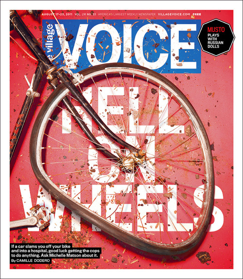 The Village Voice, August 27, 2011Photograph: James WorrellArt director: John Dixon