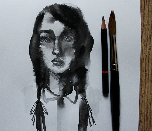 Ink and Pencil by Heidi Burton / Making Strangers on Flickr.