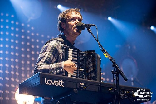 Ben Lovett of Mumford & Sons performs at Capital FM Arena Nottingham on 8th December 2012. Photo © Capital FM Arena Nottingham.