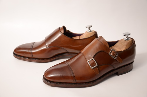 meerminshoes:  Meermin MTO for Mr.TJ - Cap toe double monks - Olfe last - Light brown Shell Cordovan - Double leather soles - Flushed metal toe caps   My Meermin dub monks should be here soon!