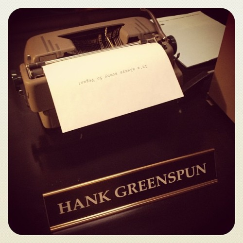 Hank Greenspun. #vegas #retro #news #lvsun #lasvegas #lasvegassun #nv #nevada #mob #tropicana #newspaper #journalism #journalist #typewriter #writer #lategram #saturday  (at The Mob Attraction @ Tropicana)