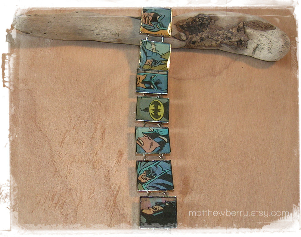 Batman Comic Book Bracelet - Batman Jewelry