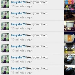 Thabks for all the love @ksuysha73 !!! People go follow her! #shoutout