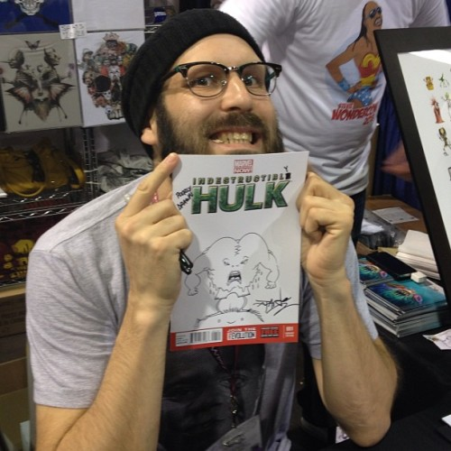Thanks to @alexpardee for the #hulk sketch @zerofriendsart #wondercon (at WonderCon 2013)